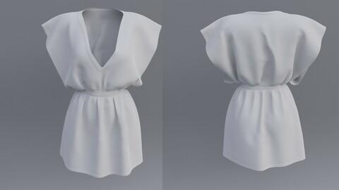 3D Female Short dress
