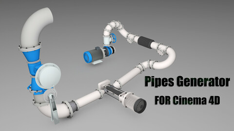 Pipes Generator for Cinema4D