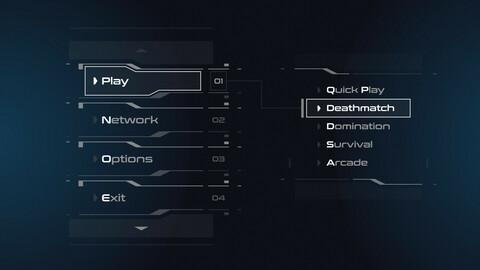 FUI / UI - Sci-fi Game Menu and Buttons Template - FREE