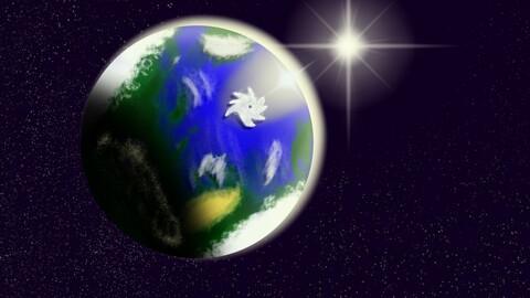 Alien planet digital painting