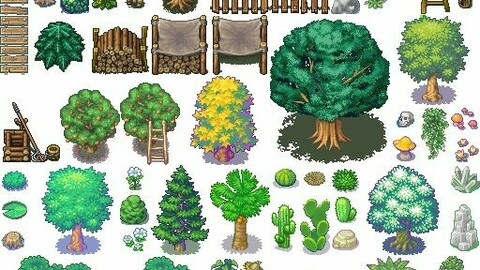 nature asset   Rpg maker tilesetMV MZ