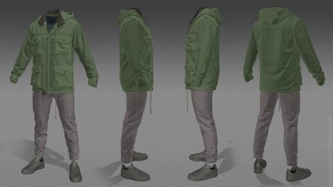 Parka Jacket - Marvelous Designer Clothing