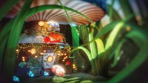 Mushroom house set