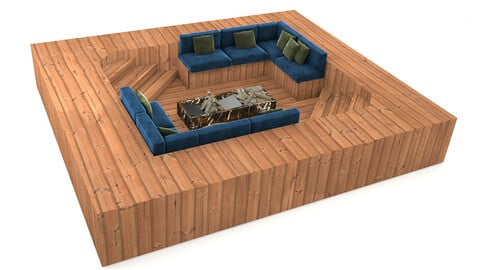sofa for overflow swimming pool