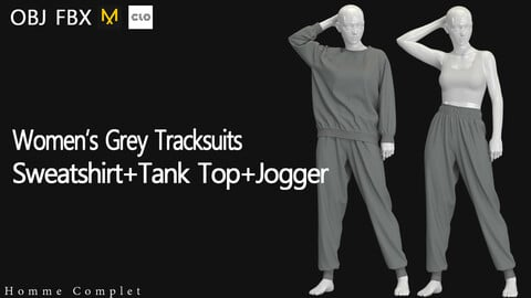 Women's Grey Tracksuits