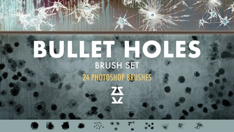 Bullet Holes Brush Set