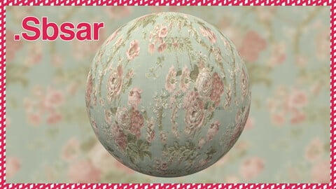 Rose Fabric Sbsar Material Design / Substance Painter