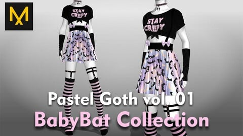Pastel Goth Outfit vol.01 - BabyBat Collection