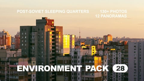 Env Pack 28 / Post-Soviet City Sleeping Quarters / Reference pack
