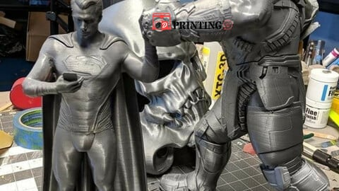 Superman vs thanos DC Vs marvel 3d print STL Digital Files