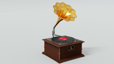 Old Gramophone 3D model