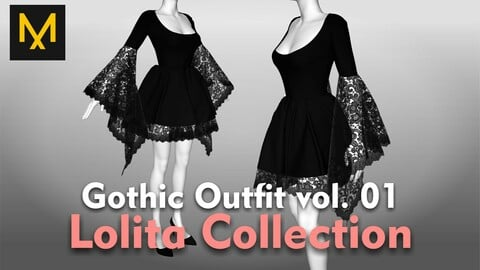 Gothic Outfit vol.01 - Lolita Collection
