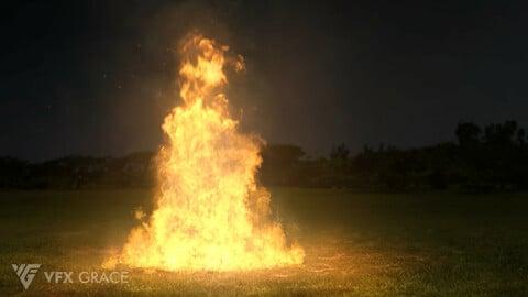 Houdini Hip File   Pyro Fire   VFX Grace