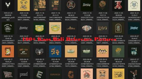 100+ Kaos Bali Reference Design