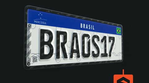 World License Plates - Mercosul - 100% Editable