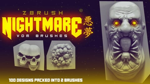NIGHTMARE VDM Brushes: ZBrush horror brushes