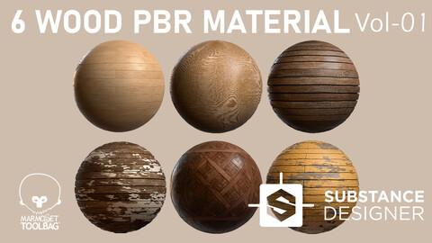 Wood Materials |Vol 01|Substance Designer