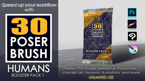30 POSER BRUSH - HUMANS Booster Pack 1