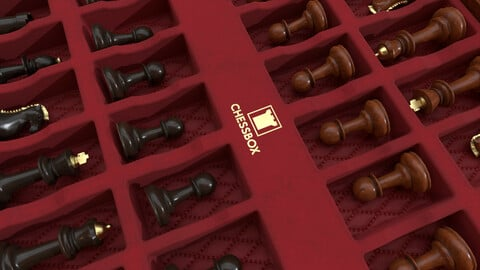 Wooden Chessboard Game-ready