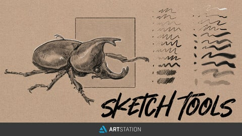 Sketch Tools - Traditional Sketch Brushes for Photoshop