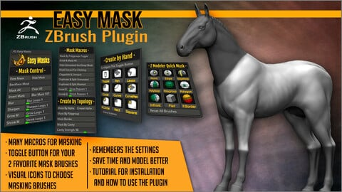 Easy Masks ZBrush Plugin