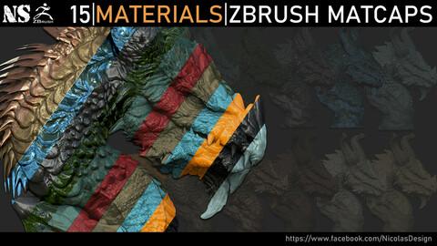 Zbrush - Materials Zbrush Matcaps