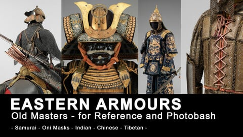 Eastern Armours (440+ HQ JPEG images) - Samurai, Indian, Chinese and Tibetan armour sets