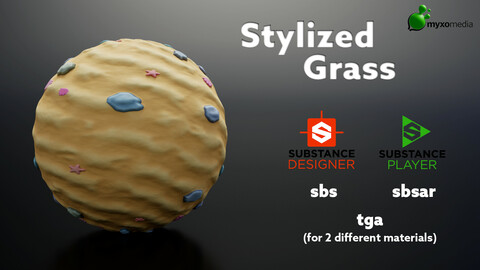 Stylized Sand with Stone, Shells and Starfish - Procedural Material Substance Designer