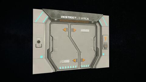 Sci-Fi Door Version 2 - Low Poly