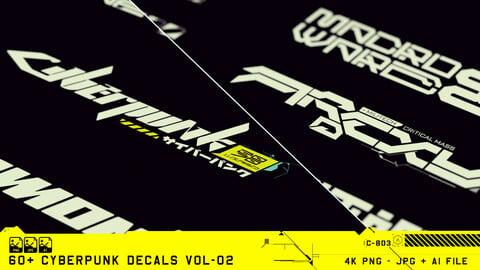 60+ Cyberpunk Decals Vol-02