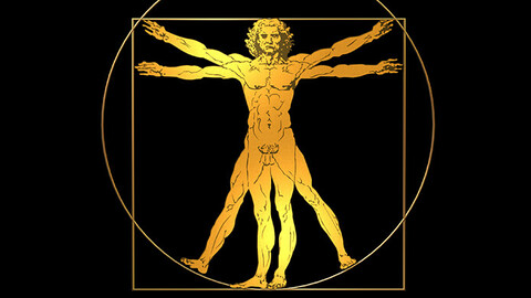 Vitruvian Man 3D Logo