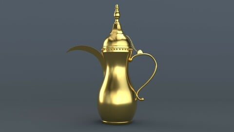 Arabic Dallah Coffee Pot 3D model