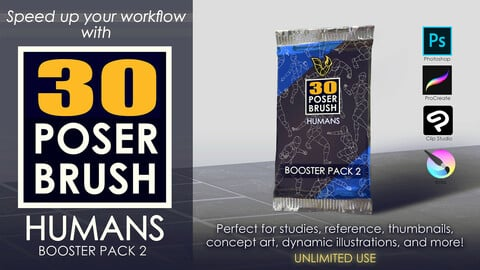 30 POSER BRUSH - HUMANS Booster Pack 2