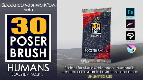 30 POSER BRUSH - HUMANS Booster Pack 3