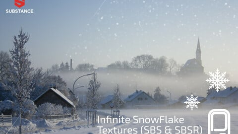 FREE: Infinite Snow Texture Generator Substance (SBS & SBSR)