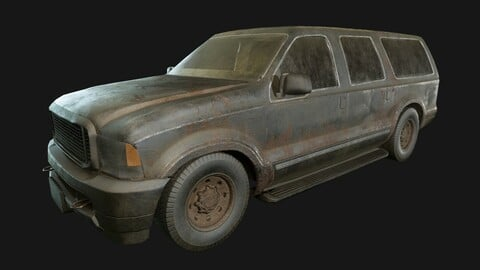 Ford Excursion 1999 (LowPoly)