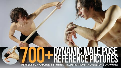 700+ Dynamic Male Pose Reference Pack