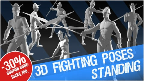 """3D Fighting Poses """"Standing"""""""