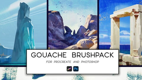 Gouache Brush Pack + Time-lapses