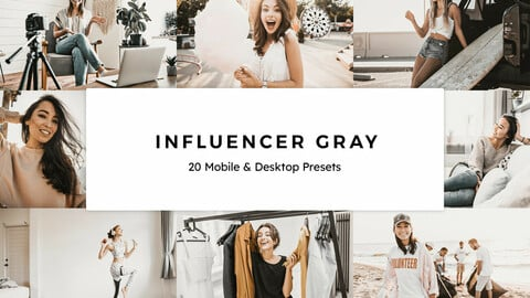 20 Influencer Gray LUTs and Lightroom Presets
