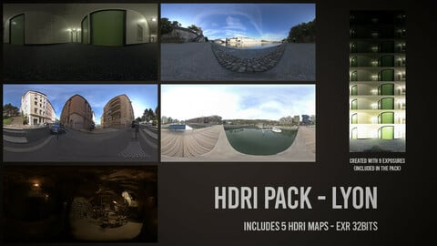 HDRI Pack - City of Lyon (France)
