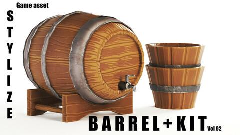 Stylized Barrel+Kit