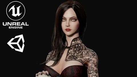 Lady Vamp - Game Ready