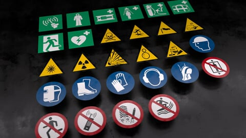 25+ Free Safety Stickers and Decals Pack