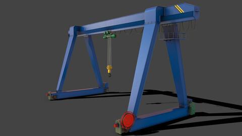 PBR Single Girder Gantry Crane V1 - BLUE