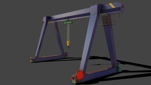 PBR Single Girder Gantry Crane V1 - BLUE DARK