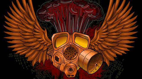 Vector Gas Mask Pandemic War