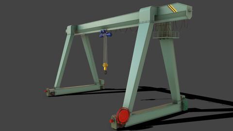 PBR Single Girder Gantry Crane V1 - GREEN LIGHT
