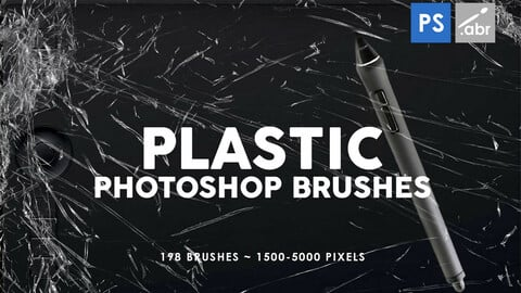 198 Plastic Photoshop Stamp Brushes
