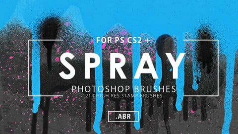 214 Spray Photoshop Stamp Brushes